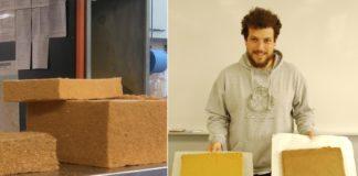 O alumno Esteban Oubiña explorou no seu TFG as posibilidades destas madeiras como illante. Fonte: Duvi.
