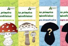 Portadas dos números da guía micolóxica editada por MycoGalicia.