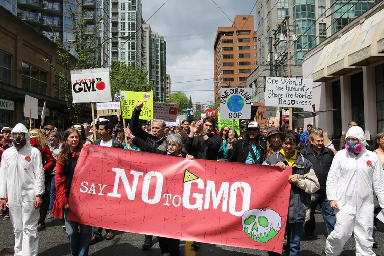 Manifestación contra Monsanto en Vancouver. Fonte: Rosalee Yagihara/Wikipedia, CC BY.