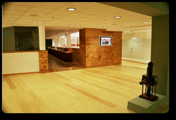 En el segundo piso, además de las exposiciones, está la zona de labores administrativas. Fuente: Mupega.