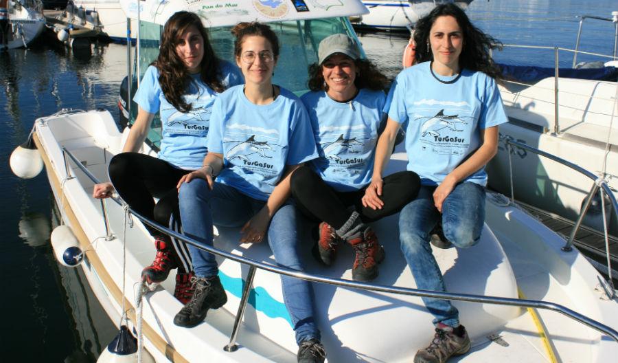 Voluntarias do proxecto TurGaSur. Fonte: Cemma.