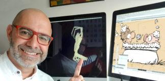 """Andrés Meixide, cunha imaxe dos exemplares de """"Astacilla andresmeixidei""""."""