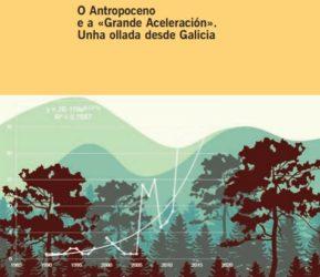 """Detalle da portada de """"O Antropoceno e a Grande Aceleración"""". Fonte: Consello da Cultura Galega."""