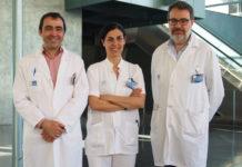 De dereita a esquerda, Marco Antonio Álvarez González, Juana Flores e Xavier Bessa. Fonte: Hospital do Mar
