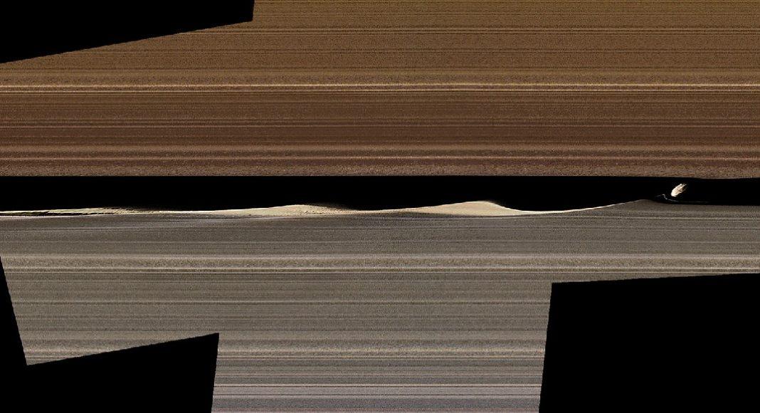 Unha das imaxes inéditas de Saturno publicadas pola NASA. Foto: JPL-