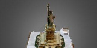 A réplica da Estatua da Liberdade realizada polos alumnos de Ames tivo un erro medio inferior a 0,04 mm. Fonte: USC.