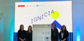 O equipo de Nanoevers durante o evento de Ignicia.