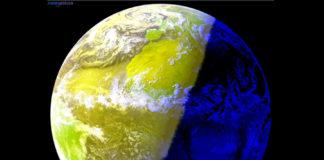A inclinación máxima do eixe da Terra, coincidindo co solsticio, provoca que se aproxime o solpor en Europa e América. Fonte: MeteoGalicia.