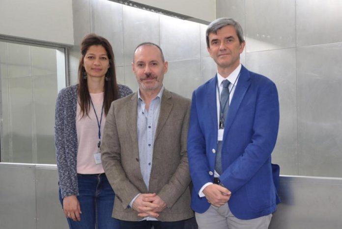 Tamara Y. Forbes, Emilio Gil e Maurizio Battino, investigadores da UVigo que asinan o traballo sobre o resveratrol, compoñente da uva. Foto: Duvi.
