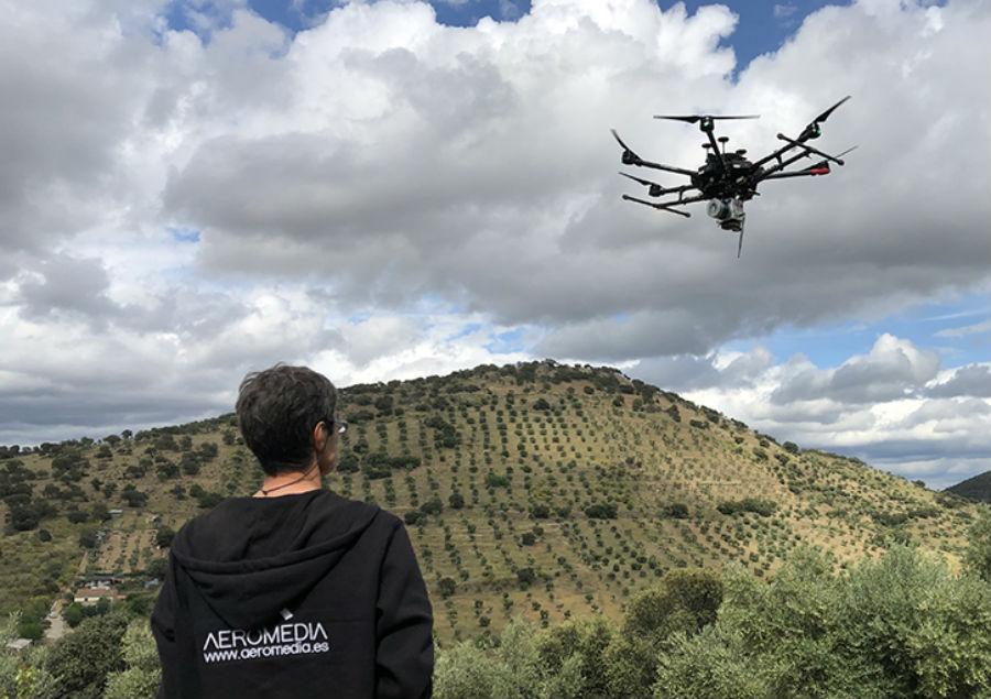 A empresa Aeromedia é unha referencia estatal no sector dos drones. Imaxe: Aeromedia.