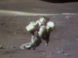 Unha das caídas na Lúa rexistradas pola NASA.