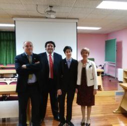 De esquerda a dereita, Fernández, Díaz, Remesar e Morrondo, na Facultade de Veterinaria do campus de Lugo. Foto: USC.