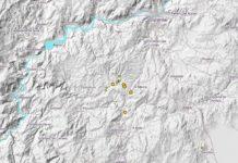 Terremotos rexistrados na comarca de Celanova nos últimos 30 días. Fonte: IGN.