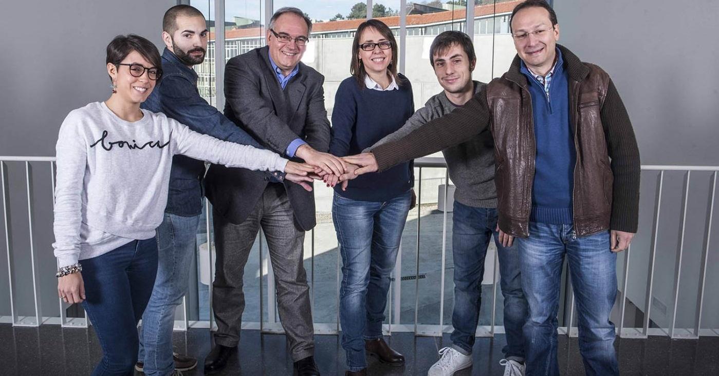 Integrantes do Laboratorio de Endocrinoloxía da Universidade de Vigo, ao que pertence Juan Fandiño. Foto: Duvi.
