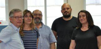 Guillermo Francés, Irene Alejo, Miguel Ángel Nombela, Anxo Mena e Marta Pérez. Foto: Duvi.