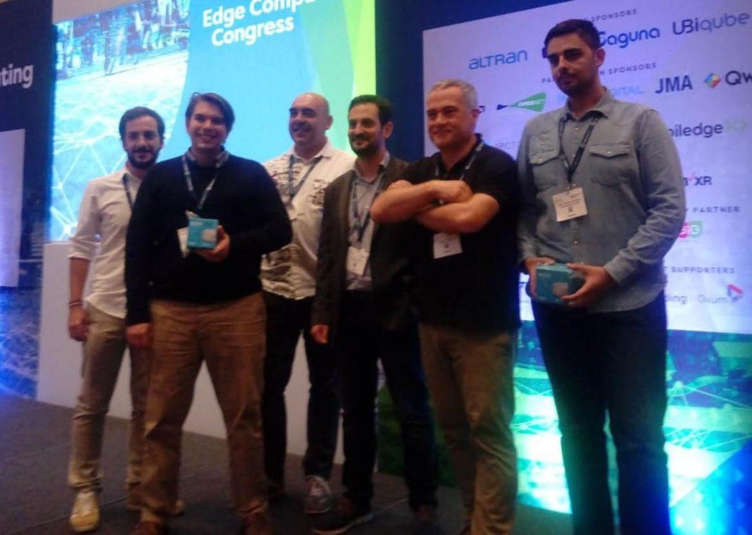 Os investigadores galegos, na entrega de premios. Foto: Duvi.