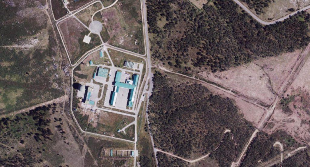 Imaxe aérea da base do Iroite no Plan Nacional de Ortofotografía Aérea de 2014. Fonte: IGN.