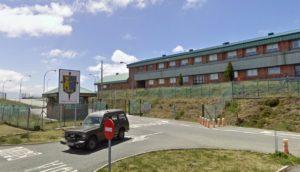 Entrada ás instalacións do EVA-10 no Iroite. Fonte: Google Street View.