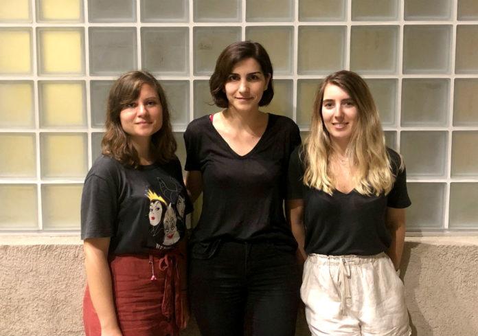De esquerda a dereita, as primeira asinantes do artigo Eva Rial, Patricia Seoane e Laura Liñares. Foto: USC.