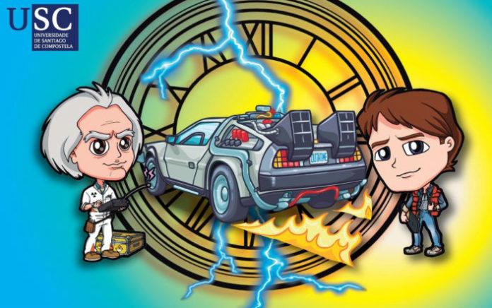 No cartel das NerdNites hai unha referencia ao cartel da película 'Regreso ao Futuro'