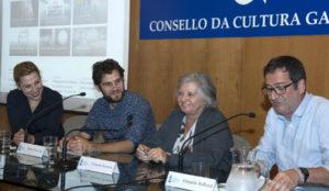 Inma López Silva, Manuel Rey, Carmela Porteiro e Eduardo Rolland. Foto: Consello da Cultura Galega.