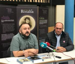 Martin Pawley e Anxo Anguieira, na presentación da campaña. Foto: Fundación Rosalía.