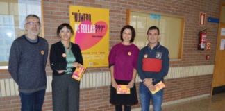 Xusto Rodríguez, Montserrat Valcárcel, Marta López e Germán Santamarina, na presentación da campaña en Veterinaria. Foto: USC.