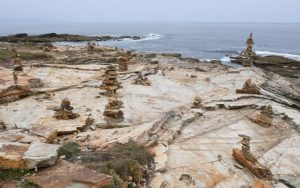 Milladoiros na zona da Praia das Catedrais. Foto: SGHN.