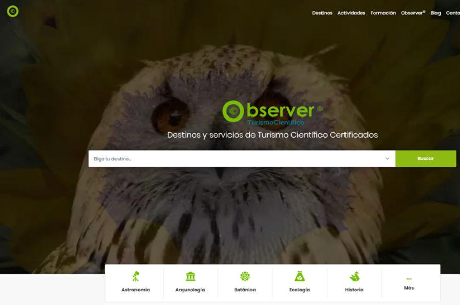 A plataforma cataloga os diversos destinos en función de varios criterios e permite a interacción cos usuarios.