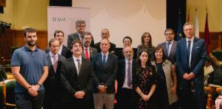 Autoridades e premiados, no acto do Día da Ciencia en Galicia. Foto: RAGC.