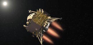 Fragmento dun vídeo que simula a chegada da Vikram india á Lúa. Fonte: ISRO.