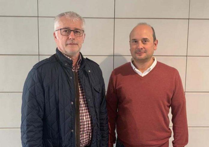 Arno Formella, director da Escola de Enxeñaría Aeronáutica e do Espazo e Fernando Aguado, coordinador da Agrupación Aeroespacial. Foto: Duvi.