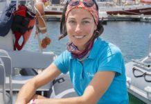 Laura González analiza na súa tese de doutoramento a influencia da variables ambientais na distribución espazo-temporal dos cetáceos. Fonte: Duvi.