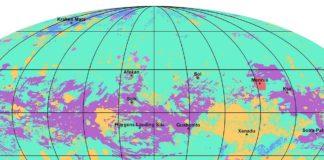 Parte do mapa xeolóxico de Titán. Fonte: NASA.