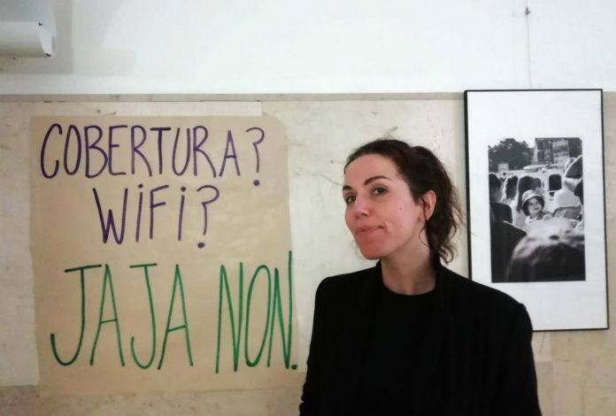 Marta Peirano, na Facultade de Comunicación da USC. Foto: R. Pan.
