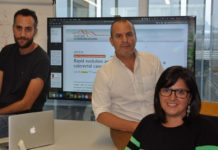 Joao M. Alves, David Posada e Sonia Prado-López , investigadores do Cinbio da UVigo que asinan o traballo sobre o cancro colorrectal. Foto: Duvi.