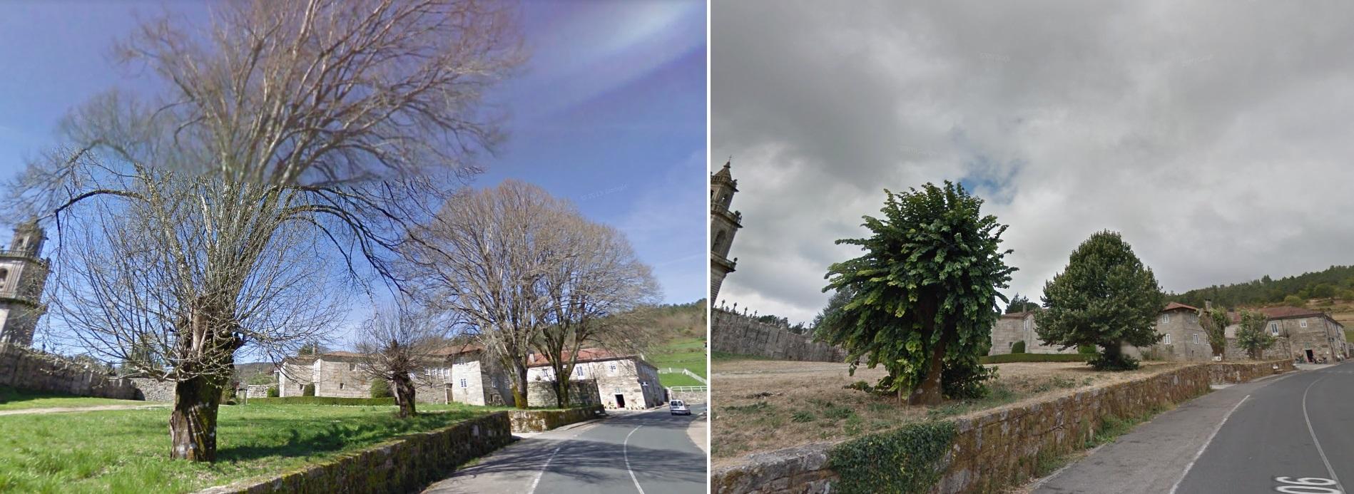 Imaxes de 2011 e 2013. Fonte: Google Street View.