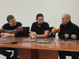 Juan Picos, José Rodrigo Dapena e Carlos Souto, na presentación das xornadas. Foto: Duvi.