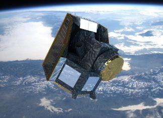Representación do Cheops na órbita terrestre. Fonte: ESA.