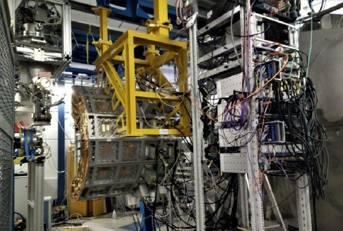 Vista da liña de feixe do detector Califa. Foto: IGFAE.