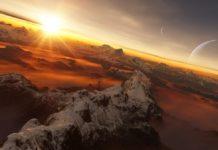 Recreación dun exoplaneta e a súa estrela. Fonte: IAU/L. Calçada.