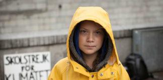 Greta Thunberg, durante unha das súas primeiras xornadas de folga polo clima en Estocolmo. Foto: Anders Hellberg / CC BY-SA 4.0.