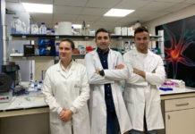 María Pérez Mato, Francisco Campos e Andrés da Silva, investigadores do IDIS que participarán na investigación do fármaco contra o ictus. Foto: IDIS.