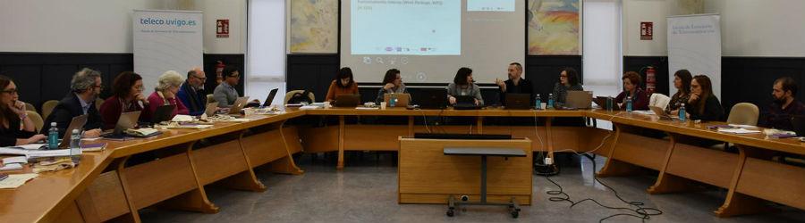 Reunión do proxecto Universidades Sem Fronteiras celebrada en Vigo. Foto: Duvi.