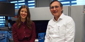 Alba Fernández e Roberto Elosua, primeira autora e autor principal do traballo. Fonte: IMIM.