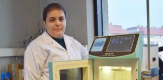 Lucía López é a autora do estudo sobre a obtención de antioxidantes. Foto: Duvi.