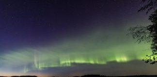 Imaxe da aurora en forma de duna captada en Finlandia e Suecia. Foto: Kari Saari.