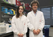 Alejandra Escudero-Lara e Rafael Maldonado, autores do estudo que analiza o impacto do cannabis na endometriose. Fonte: UPF.