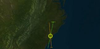 Animación do posible choque, que tería lugar a 900 quilómetros de altura sobre os Estados Unidos. Foto: Leolabs.
