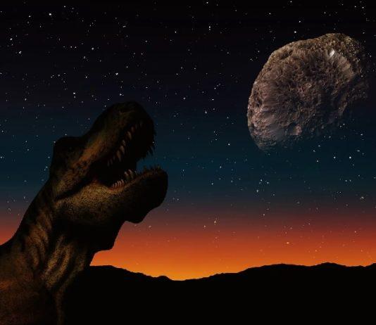 Ilustración do impacto do meteorito na Terra.